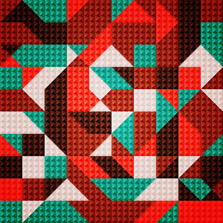 Mosaic background.The illustration contains transparency and effects. Illustration