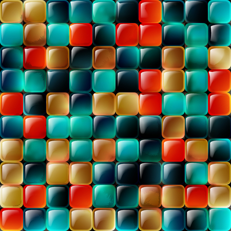 Mosaic background.The illustration contains transparency and effects. Ilustrace