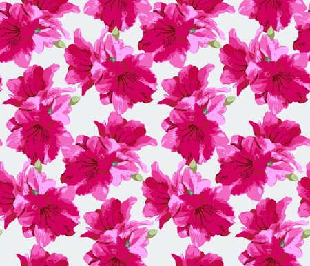 trabajo manual: Seamless pattern with red Flowers on a white background. The drawing for light summer fabrics or wrapping paper. Hand-drawn illustration. Vector