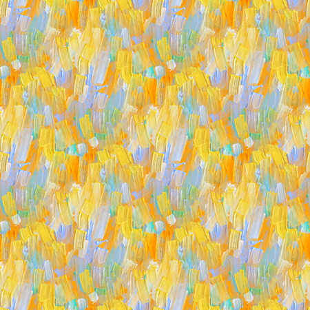 Abstract seamless pattern with oil painting.  Hand-drawn illustration. Stock Photo