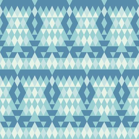 Nahtlose Muster. Bluer geometrische Verzierung mit Raute Vektor-Illustration