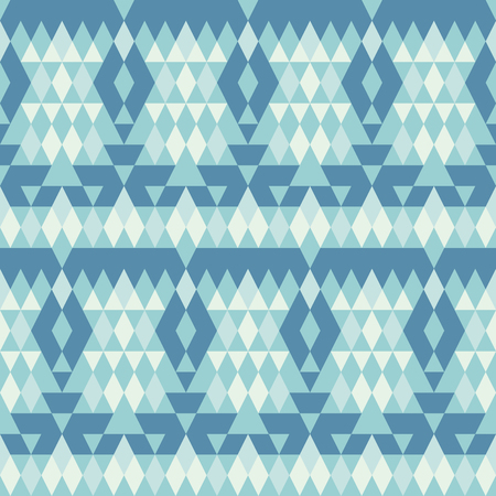 bluer: Seamless  pattern.  Bluer geometric ornament with rhombus.  Vector illustration Illustration
