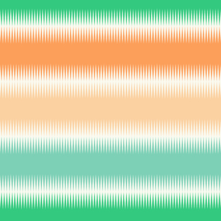 Seamless pattern with horizontal  stripes of green and orange color. Vector illustration.