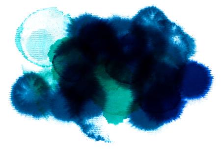 Dark blue watercolor dot made of dots. Vector illustration Illustration