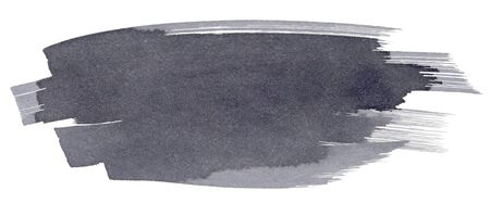 wet paint: Gray watercolor spot, isolated on a white background. Hand-drawn illustration.