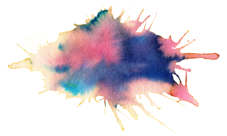 dabs: Watercolor spot, isolated on a white background.