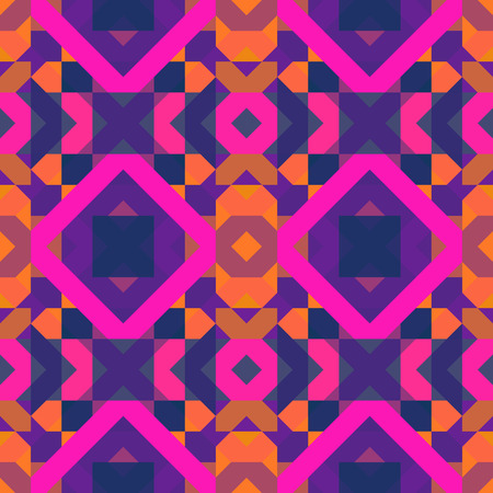 Multicolored geometric pattern of squares.