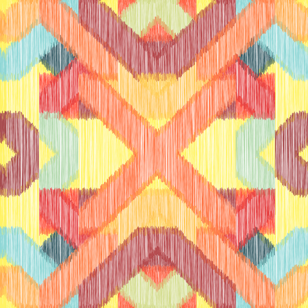 Bright seamless Ikat Pattern. Abstract  background for textile design, wallpaper, surface textures, wrapping paper.