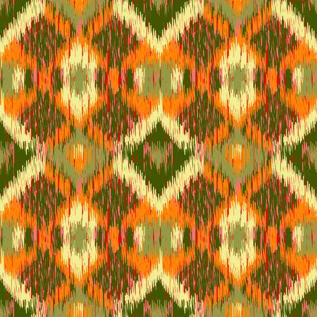 Seamless Ikat Pattern. Illustration