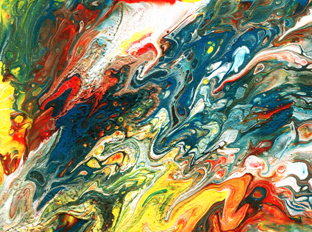Acrylic pouring. Multicolor colorful background. Hand-drawn illustration.