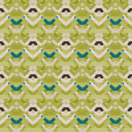Seamless geometric pattern of squares and triangles. Vector illustration. 스톡 콘텐츠 - 102148718