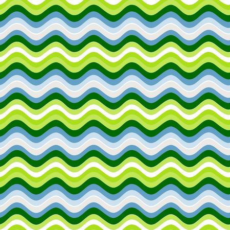 Modèle sans couture avec des rayures ondulées lumineuses. Illustration vectorielle. Vecteurs