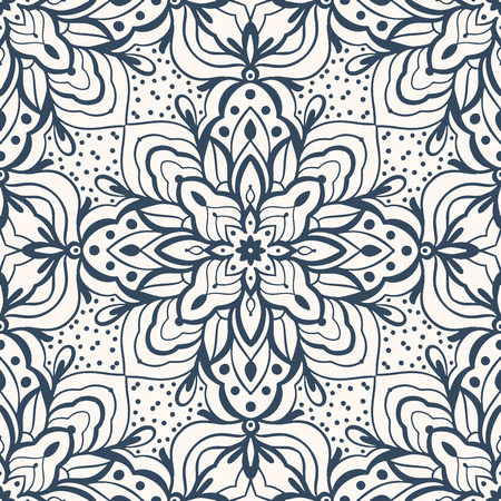 Black and white seamless pattern .  Vector illustration