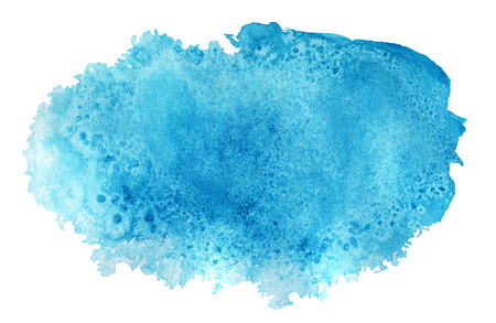 Blue Watercolor spot, isolated on a white background.