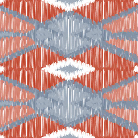 Seamless Ikat Pattern. Abstract background for textile design, wallpaper, surface textures, wrapping paper. Vecteurs