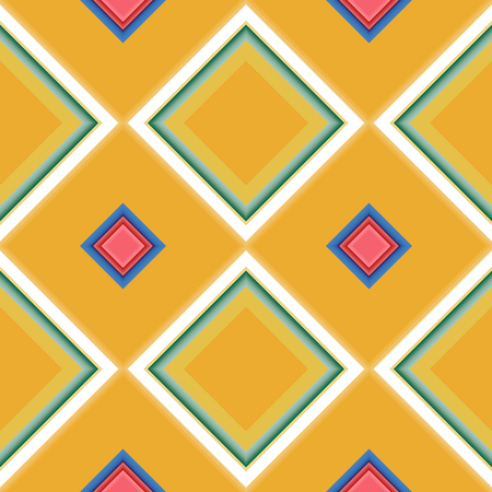 Seamless pattern with the simple geometrical drawing in retro style. Vector illustration