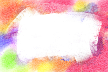 Multicolor watercolor background with space for text. Hand-drawn illustration. Stock Photo