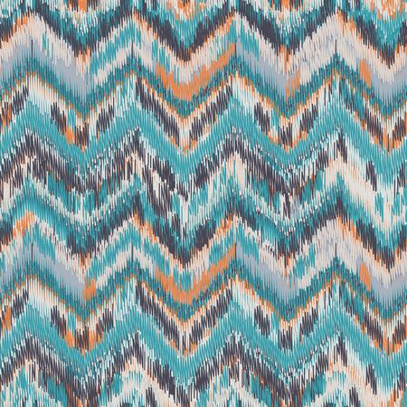 Seamless Ikat Pattern. Abstract background for textile design, wallpaper, surface textures, wrapping paper. Vetores
