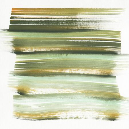 Watercolor background with green stripes.  Hand-drawn illustration.