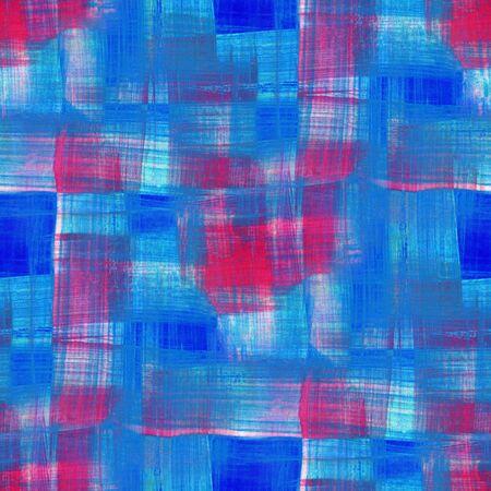 Tartan fabric texture. Seamless pattern. Watercolor.  Hand-drawn illustration.