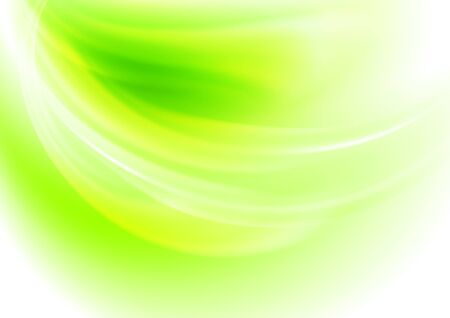 Light background  with  green  light blurred spots . The illustration contains transparency and effects. EPS10