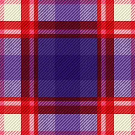 Tartan fabric texture. Seamless pattern. Vector illustration. Ilustração