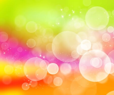 Abstract background with bokeh.  Multicolor blurred backdrop.  Digital illustration.