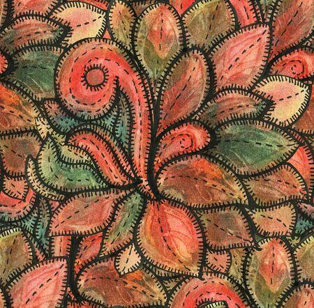 Seamless pattern with multicolor Paisley print.  Watercolor illustration. 版權商用圖片