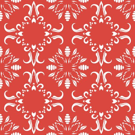 Seamless pattern with arabesques in retro style. Vector illustration. 向量圖像