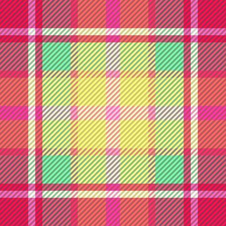 Tartan fabric texture. Seamless pattern. Vector illustration.  向量圖像