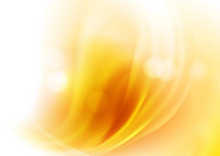 Heller Hintergrund mit orangefarbenen Lichtflecken und Bokeh. Die Illustration enthält Transparenz und Effekte. EPS10 Vektorgrafik