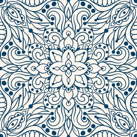 Seamless pattern with arabesques in retro style. Vector illustration. Standard-Bild - 133363029