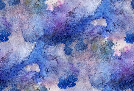 Seamless watercolor background with grunge style.  Hand-drawn illustration.