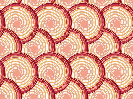 Abstract seamless pattern with circles and spirals.  Vector illustration. Stock Illustratie