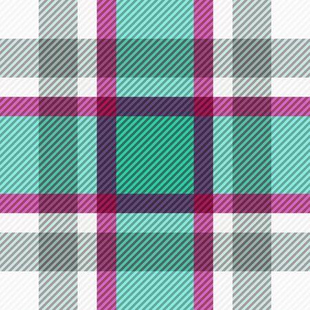Tartan fabric texture. Seamless pattern. Vector illustration.  Stock Illustratie