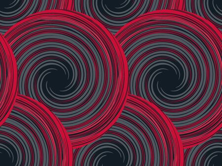 Abstract seamless pattern with circles and spirals.  Vector illustration. Banque d'images - 138469702