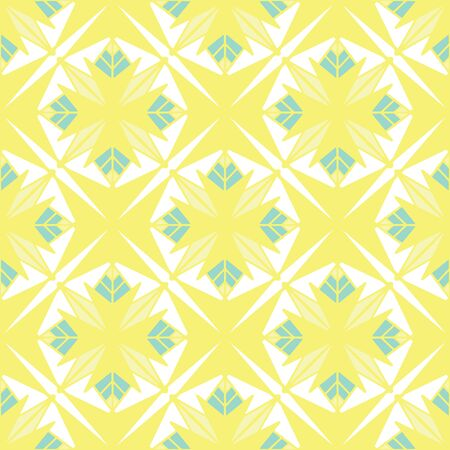 Seamless pattern of decorative tiles in retro style. Vector illustration