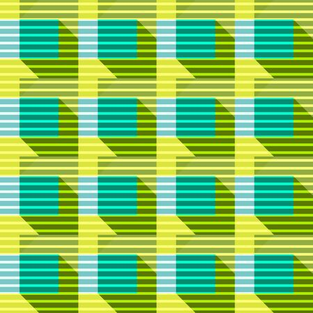 Seamless geometric pattern of squares and triangles. Vector illustration.