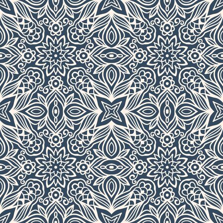 Seamless pattern with arabesques in retro style. Vector illustration. Ilustrace
