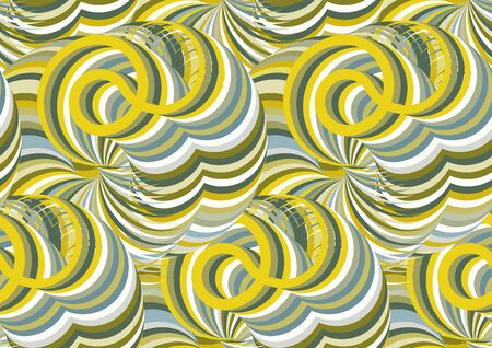 Seamless pattern with bright intertwined lines. Vector illustration Vecteurs