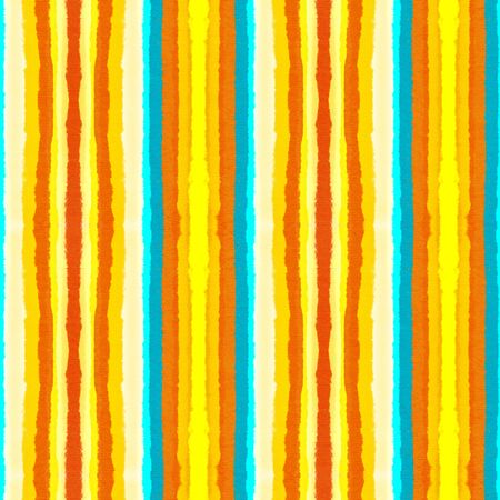 Seamless pattern with vertical stripes of yellow and red color. Hand-drawn illustration.