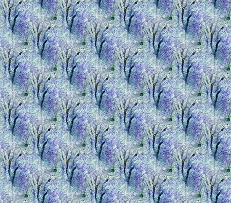 Abstract seamless pattern with watercolor spots. Hand-drawn illustration.