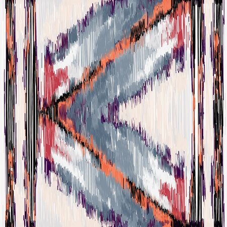 Seamless Ikat Pattern. Abstract  background for textile design, wallpaper, surface textures, wrapping paper.