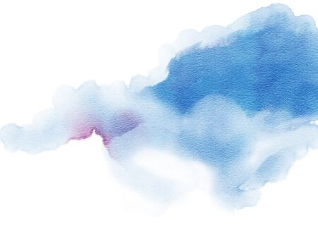 Watercolor background with colored spots.  Hand-drawn illustration.