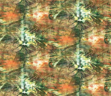 Seamless tie-dye pattern. Hand painting fabrics - nodular batik. Shibori dyeing.