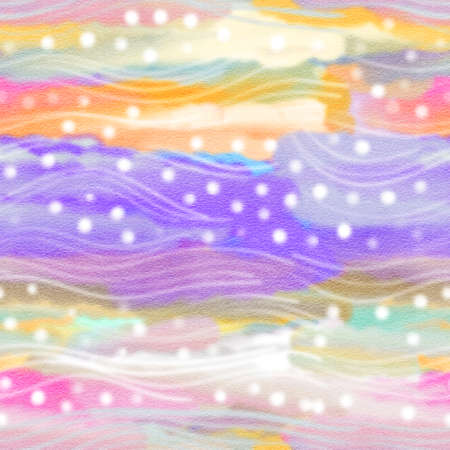 Colorful waves in pastel colors. The watercolor drawing 版權商用圖片