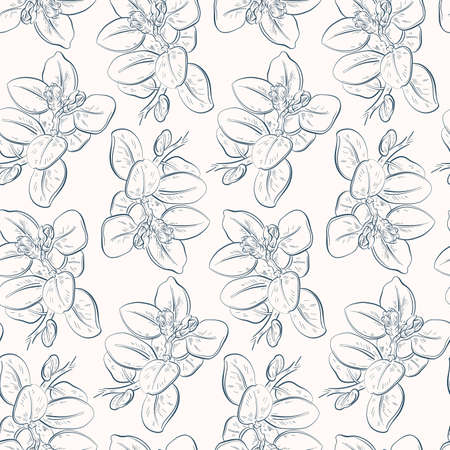 Abstract seamless pattern with leaves. Vector illustration. Vectores