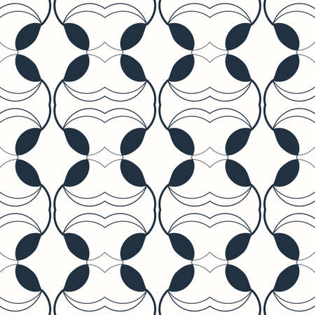 Seamless black and white geometric pattern. Vector illustration