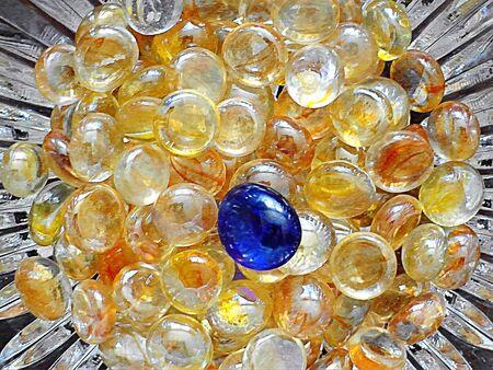 Closeup of glass beads