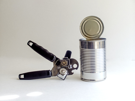 can opener: Can and can opener